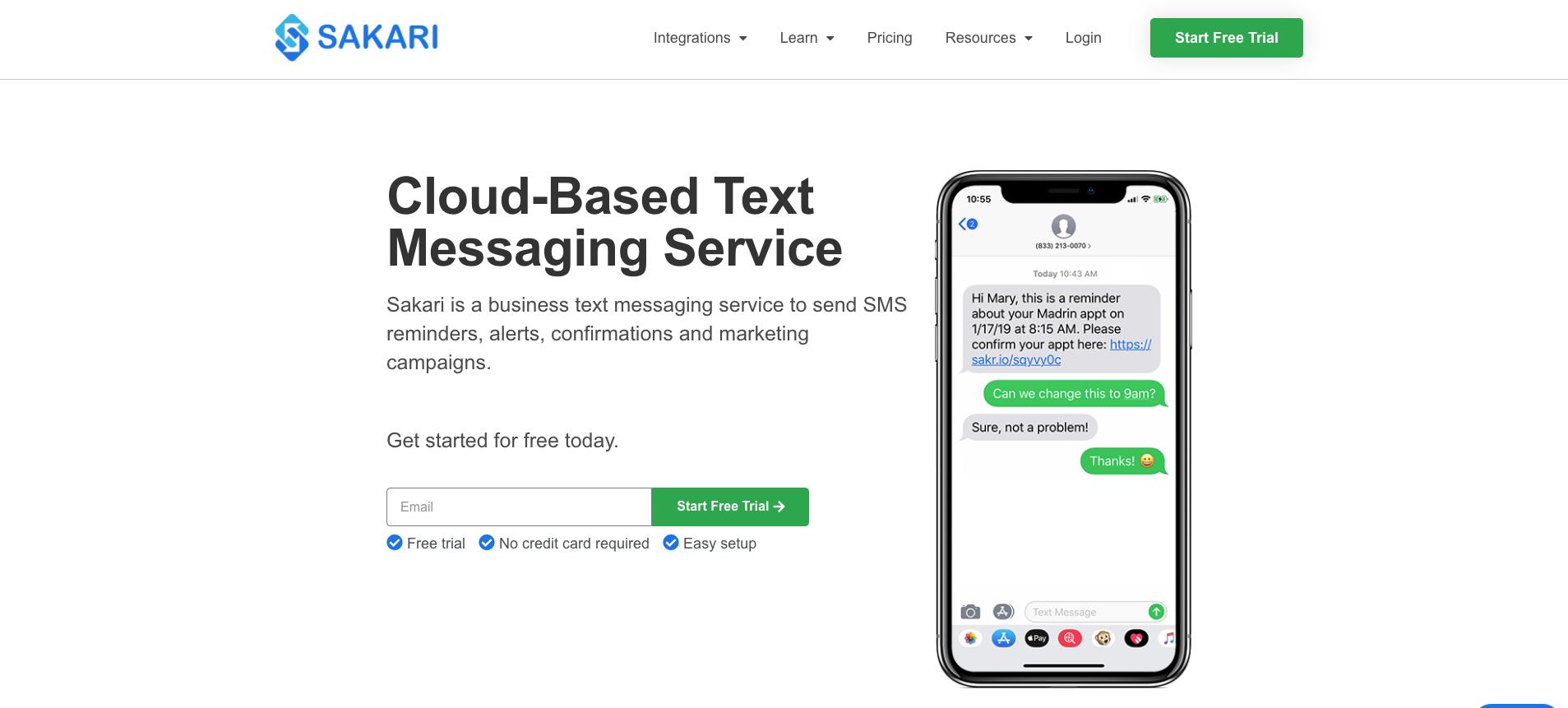 Sakari SMS Bulk Texting Provider